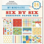"My Mind's Eye - Play Date - Paper Pad 6""X6"" 24 sheets - 6X6210"